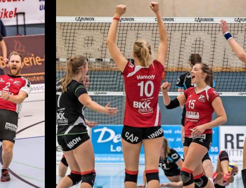 Die Frauen schlagen den BSV Ostbevern, die Männer die Tecklenburger Land Volleys mit 3:1 / Ahlborn gewinnt Reise