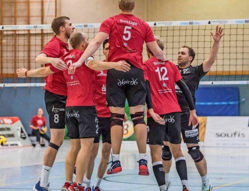 Motivationsspritze für Aligse – Volleyball-Männer siegen mit Plakat-Trick