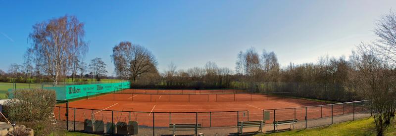 Abbau der Tennisplätze
