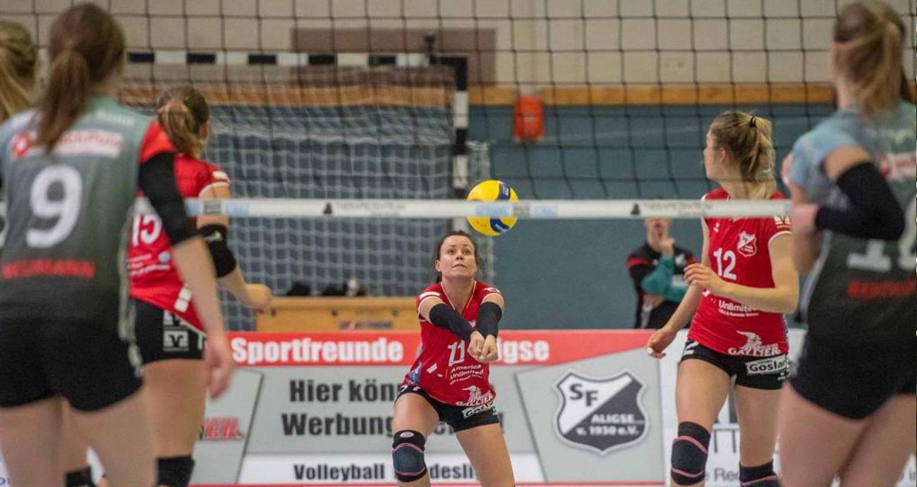 Volleyballerinnen der SF Aligse gehen im Spitzenspiel in die Knie