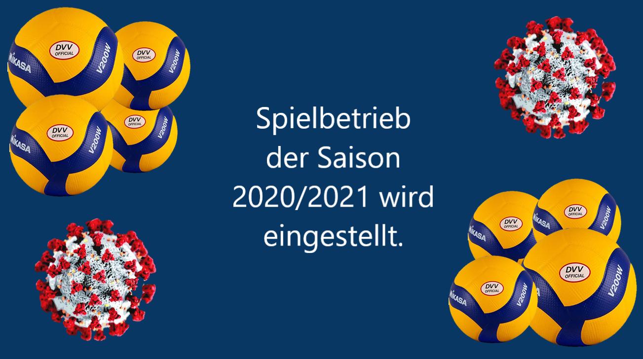 (15.12.2020) – Volleyball: Einstellung des Spielbetriebes der Saison 2020/21 – Auf- und Abstieg ausgesetzt
