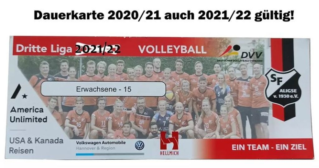 Volleyball – Dauerkarten der Saison 2020/21 bleiben gültig!